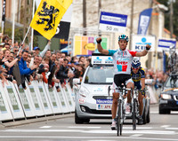 Gilbert won Brabantse Pijl with such ease that he almost forgot to put his hands up in victory.