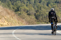 Tom Danielson trains in the countryside near his home outside Girona, Catalonia, Spain.