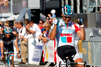 Philippe Gilbert extends his remarkable string of consecutive wins to four at Liège-Bastogne-Liège. April 24, 2011.
