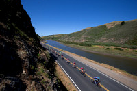 Amgen Tour of California along the Keys Creek at Tomales