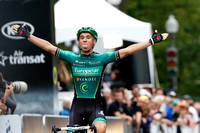 Photo MARK JOHNSON/IRONSTRING. Team Europcar rider Bryan Coquard wins the Sprint Challenge Pro Quebec race in Quebec City, Canada. September 12, 2013.