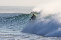 Photo MARK JOHNSON/IRONSTRING. Conner Coffin at Jefferys Bay, August 5, 2013.