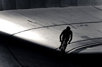 Photo: MARK JOHNSON, Aug 10, 2010 - San Diego, California. Tuesday night racing at the San Diego Velodrome.