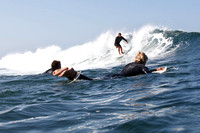Photo: MARK JOHNSON, Aug. 24, 2010. Surfing in La Jolla, California.