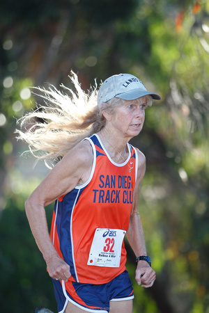 Photo - MARK JOHNSON - Robin Paine at the San Diego Track Club 46th Annual Balboa Park 4-mile Cross Country race. September 4, 2010.