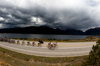 Colorado lake and USA Pro Cycling Challenge peloton