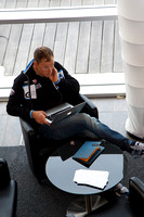 Photo MARK JOHNSON - Thor Hushovd relaxes after a training ride at the Garmin-Cervélo training camp in Girona, Spain. January 30, 2011.